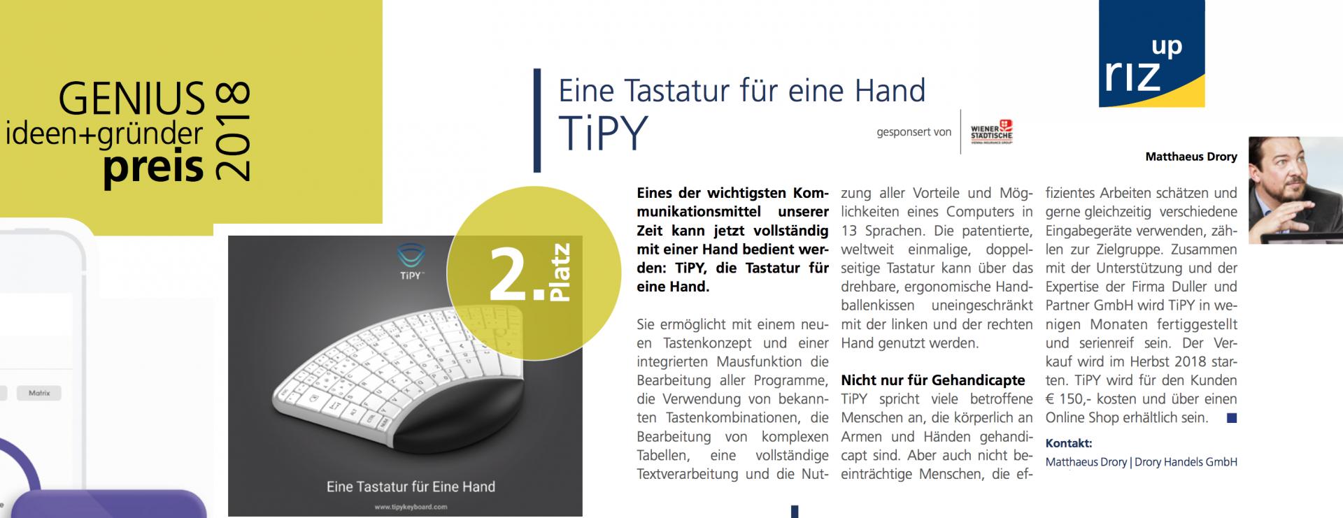 Tipy, Keyboard, Tastatur, Einhand, Einhandtastatur, Hand, One, Computer, Barrierefrei, handicap