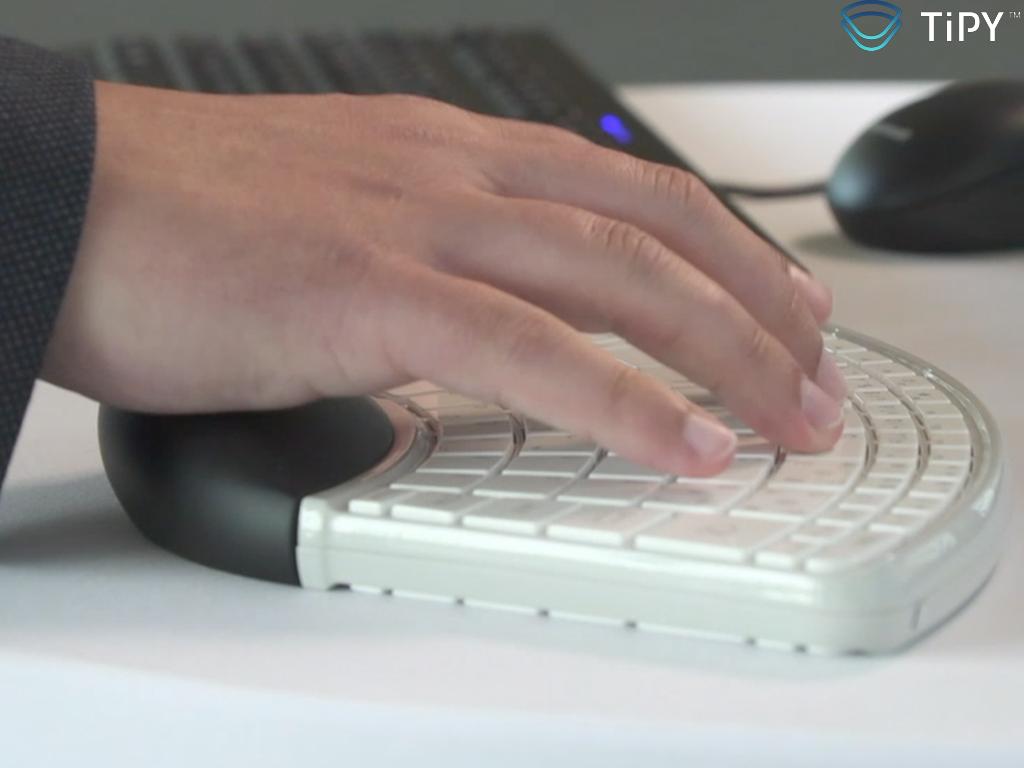 Tipy, Keyboard, Tastatur, Einhand, Einhandtastatur, Hand, One, Computer, Barrierefrei, disabled, one handed keyboard,
