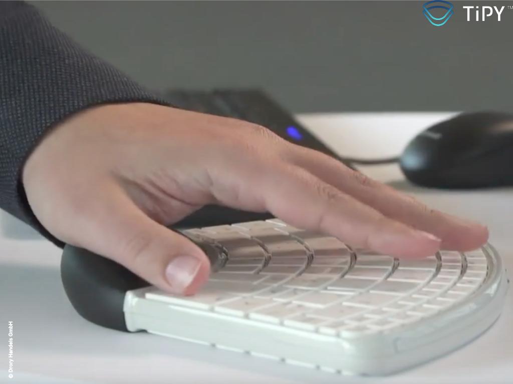 Tipy Keyboard Tastatur Einhandtastatur live1 Copyright