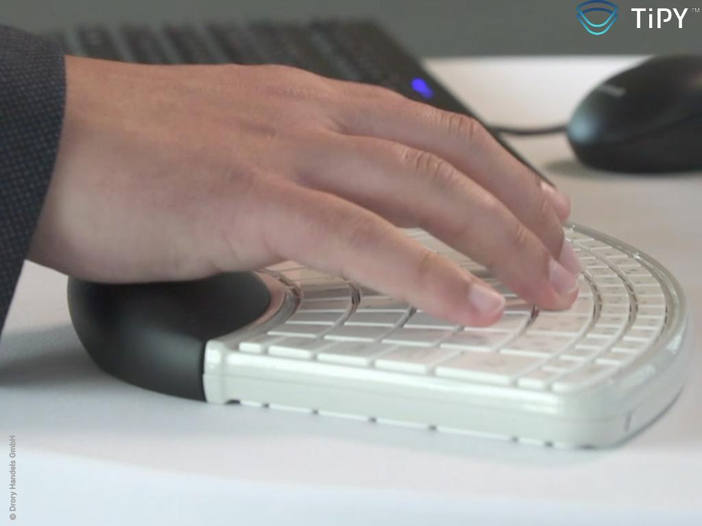 Tipy Keyboard Tastatur Einhandtastatur live2 Copyright