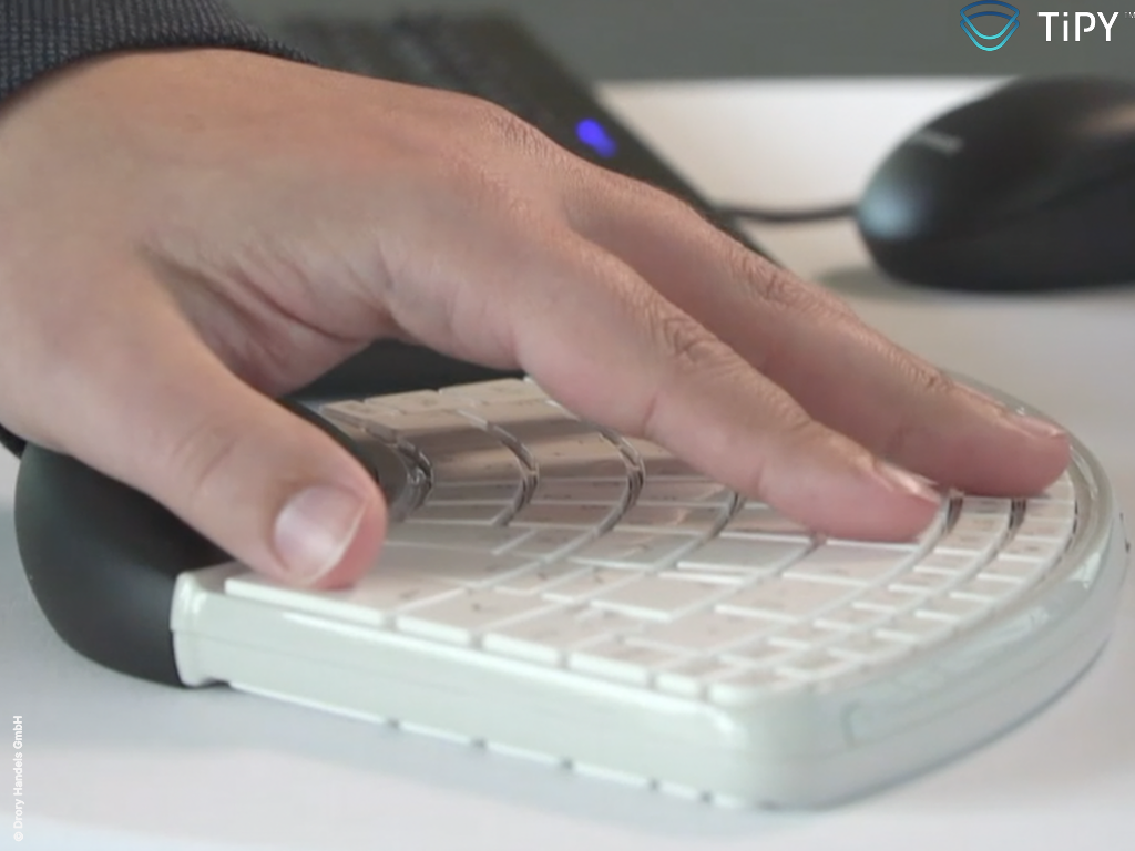 Tipy Keyboard Tastatur Einhandtastatur live3 Copyright
