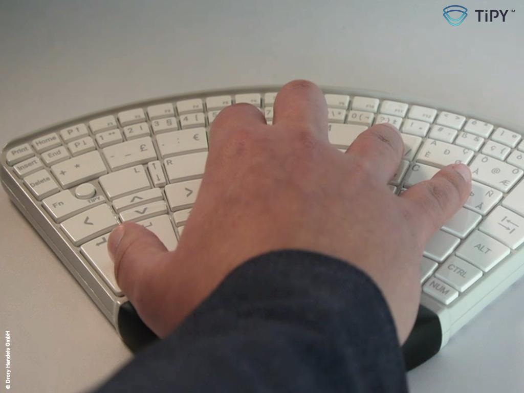 Tipy, Keyboard, Tastatur, Einhand, Einhandtastatur, Hand, One, Computer, Barrierefrei, disabled, one handed keyboard, single, Behinderung, Eingabegerät, single handed keyboard,input device, handed, Rechtshänder, Linkshänder, Einhänder, Links, Rechts, Right, Left,